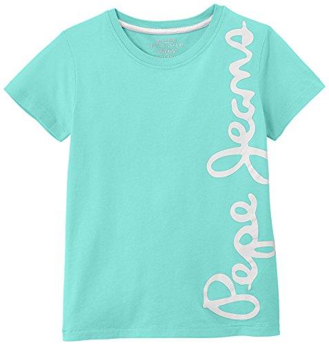 Pepe Jeans Jungen T-Shirt, WALDO SHORT, GR. 176 (Herstellergröße: 16 ans), Grün (Mojito)