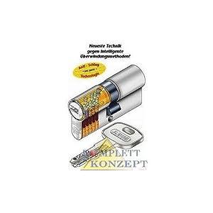ABUS XP2S Profil-Doppelzylinder Länge 30/30mm mit 3 Schlüssel