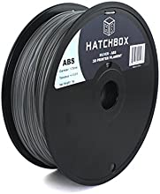 HATCHBOX 1.75mm Silver ABS 3D Printer Filament - 1kg Spool (2.2 lbs.) - Dimensional Accuracy +/- 0.05mm
