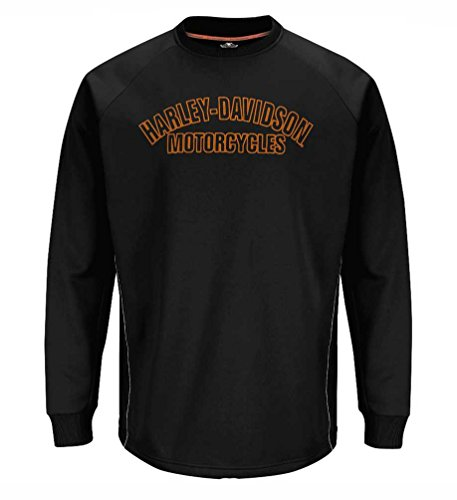 Harley-Davidson Mens Performance Shirt, Reflective Tech Fleece, Black H41Y (3XL)
