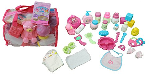 Mommy & Me Baby Doll Care Set – with 30 Accessories in Bag image