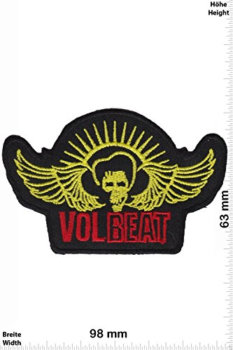 Patch - Vol Beat - VOLBEAT - Fly - MusicPatch - Rock - Chaleco - toppa - applicazione - Ricamato termo-adesivo - Give Away