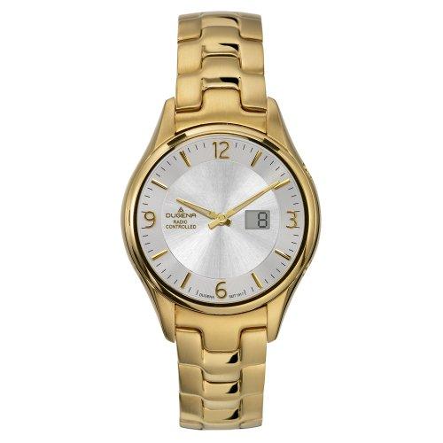 Dugena 4409205 - Reloj analógico de mujer de cuarzo con correa de acero inoxidable plateada