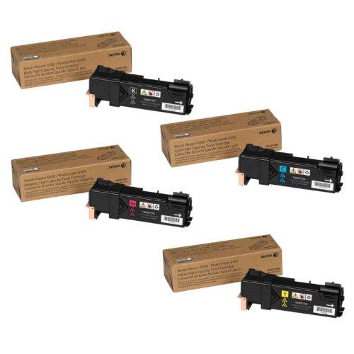 Xerox Phaser 6500 Toner Kit, 106R01594, 106R01595, 106R01596, 106R01597