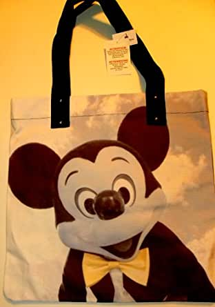 Disney World Park Exclusive New Mickey Ear Head Black White Parade Balloon Purse Bag Medium Designer Handbag Tote Coated Cotton