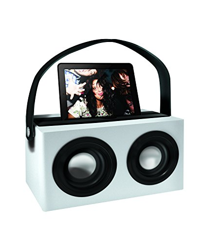 Polaroid Psk3002Wh 3.5Mm Rechargeable Portable Speaker Dock With Deep Bass, White