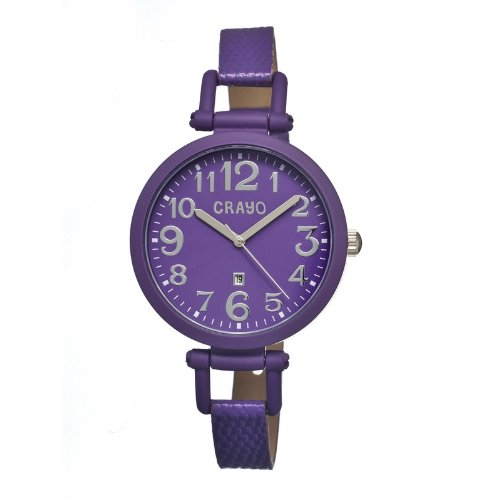 crayo-cracr0607-reloj-para-mujeres-correa-de-cuero-color-purpura