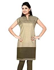 Printed Cotton Handloom Cotton Long Kurtis - B00YV3QI5S