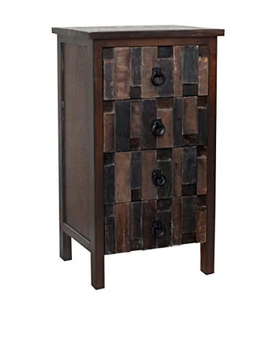 Gallerie Décor Mosaic 4-Drawer Cabinet, Brown