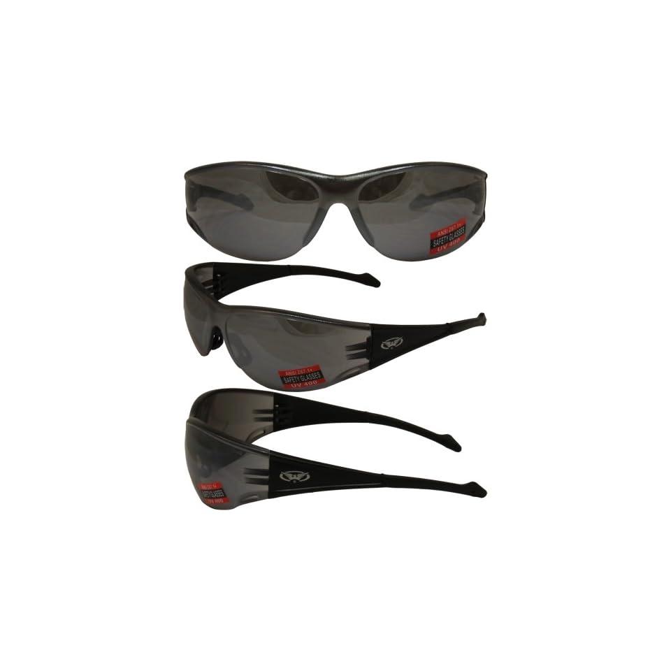 160e03b5e6 Global Vision Full Throttle Safety Sunglasses Black Frame Flash Mirror Lens