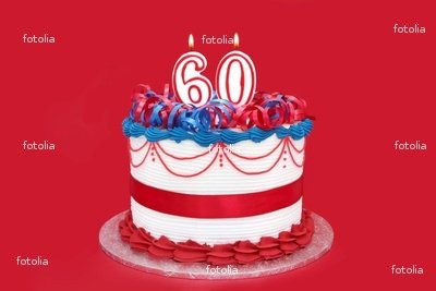 Wallmonkeys Peel and Stick Wall Graphic - 60th Cake - 60