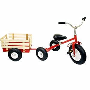 Amazon.com: Big Roc All Terrain Tricycle & Trailer Set: Toys & Games