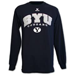 BYU Cougars T-shirt, Long Sleeve Navy by The Gameday Collection