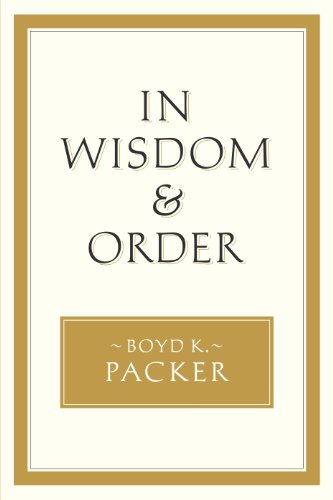 In Wisdom and Order