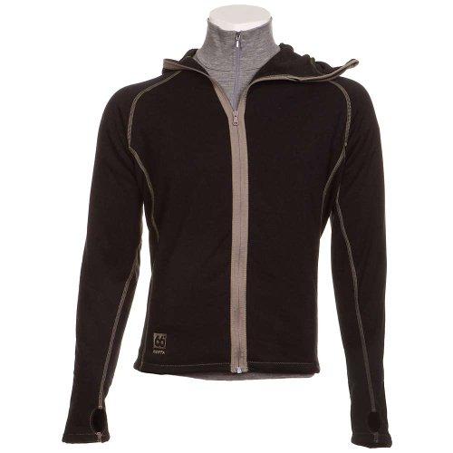 66 North Men'S Vik Hooded Jacket, Black 900, Large