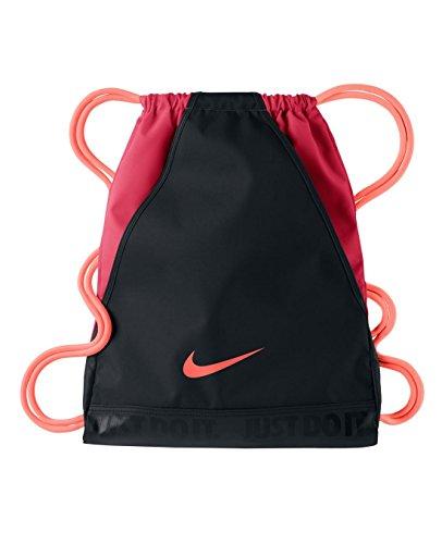 New Nike Varsity Gymsack DS Bag Black/Fusion Red/Atomic Pink