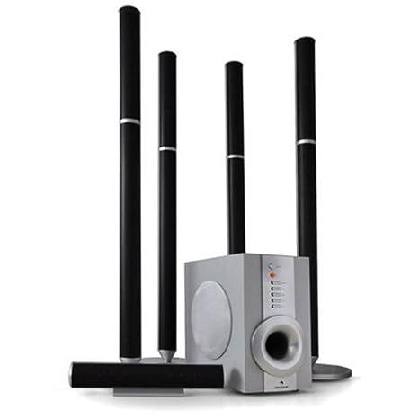 Auna - Système d'enceintes 5.1 pour Home Cinéma et Hifi avec caisson de basses actif - Puissance 100W totale - Télécommande incluse (Import Allemagne)
