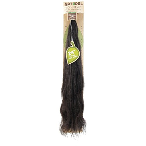 Sassy Natural Virgin Remy Human Hair Extensions Natural Dark Brown 24 Inch