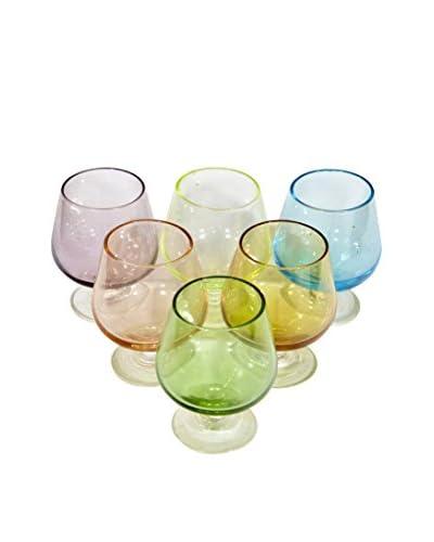 2 B Modern 1960s Set of 6 Shot Glasses, Multi