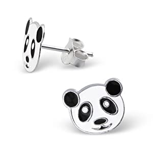 925 Sterling Silver Children's Panda Earrings - Nickel Free GIFT BOXED