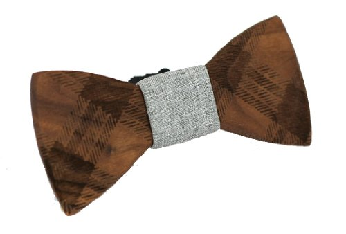 Two-Guys-Bow-Tie-Co-Mens-Wood-Bow-Tie-Floyd-Walnut-Wood-Bow-Tie