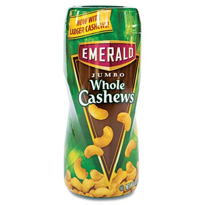 Emerald 93301 JUMBO WHOLE CASHEWS 10 OZ ON THE GO CANISTER