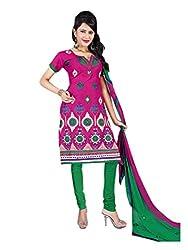Vatsal Silk Mills Unstitched Dress Material for Women Pink