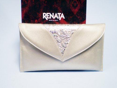Renata Roma Clutch Bag (Stampato 510 Champagne)