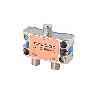 Monster Standard RF Splitters For CATV Signals MKII - 2 Way RF Splitter