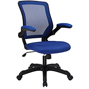 LexMod Veer Office Chair with Mesh Back and Mesh Fabric Seat, Blue