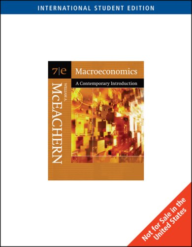 Macroeconmics: A Contemporary Introduction with Infotrac College