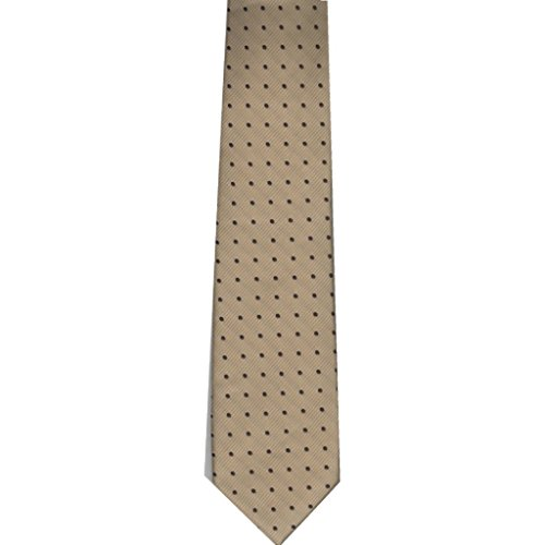 "Youth Boy's Microfiber 48"" Neck Tie Tan / Brown Dots - West End"