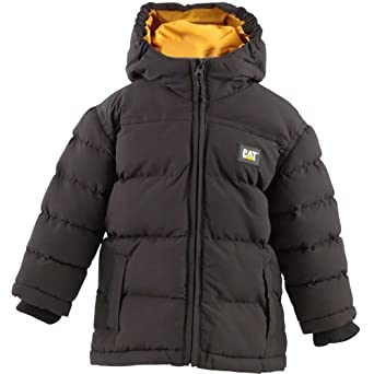 Kids Caterpillar Infant Puffy Jacket Black Childs Junior (2 Age 2 Height 92cm)