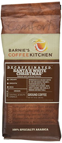 Barnie's CoffeeKitchen Decaf Santa's White Christmas Coffee, 10 Ounce