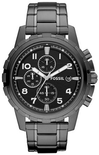 Fossil Dean FS4721 Stainless Steel Watch, Smoke