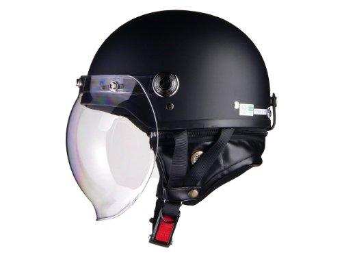 リード工業 バイクヘルメット ハーフジェット CROSS CR760 バブルシールド ハーフマットブラック フリー 57~60cm未満