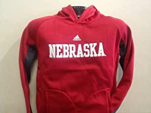 Nebraska Cornhuskers Adidas Youth Hooded Sweatshirt Red by adidas