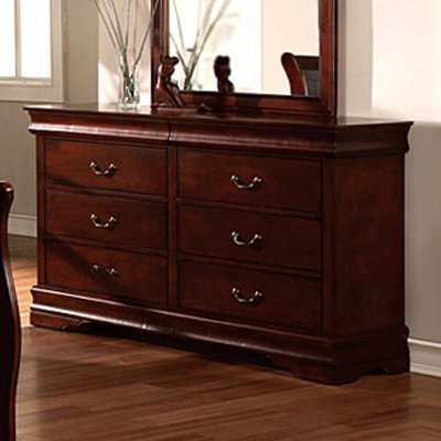louis phillipe ii solid wood cherry finish bedroom dresser find discount promotion from amazon. Black Bedroom Furniture Sets. Home Design Ideas