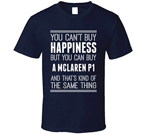 buy-a-mclaren-p1-happiness-car-lover-t-shirt-l-navy