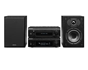 Denon D-F109DABNBKBKEK Network Streamer System with Network Player, DAB Receiver and Speakers - Black