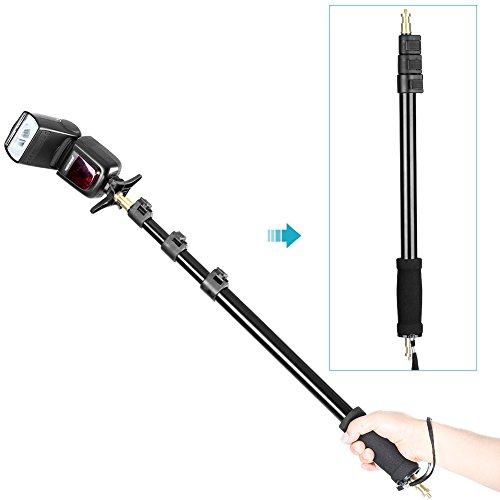 Neewer-21-63545-160cm-Portable-Four-Sections-Stretchable-Light-Boom-Pole-Stick-14-Male-Thread-for-Digital-Camera-LED-Light-and-Flash-such-as-WITSTRO-AD-180-AD-360-Nikon-Canon-Yong-Nuo-and-Neewer-Studi
