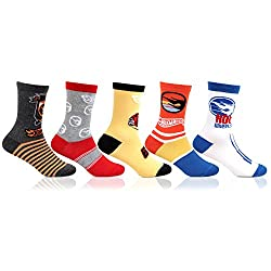 Bonjour Hot Wheels Multicolour Kids 5 Pair Cotton Socks_BRO6502-03-PO5