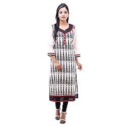 Kyaara Women's Casual Wear Loose Cotton Kurta