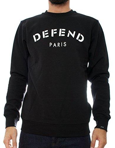 Defend Paris Defend Crew uomo, felpa, nero, X-Large EU