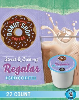Donut Shop Sweet & Creamy Regular Iced Coffee K-Cups For Keurig Brewers - 66 Count