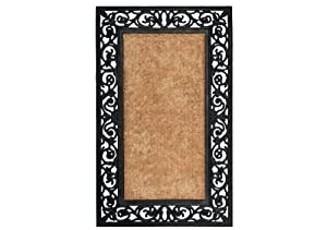 Extra Weave Usa Scroll Rubber Coir Doormat, 22-Inch by 36-Inch (Discontinued by Manufacturer)