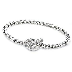 Sterling Silver Pavé CZ Bracelet
