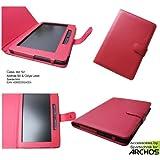 Tasche Archos 90 - bestes Case für EBook Reader Archos 90 & Odys Leon Media Player - Tasche für elektronisches Buch Archos90 -rot