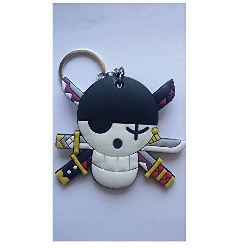 Nido del Bimbo 1026 - [LZ] Portachiavi One Piece in Gomma Doppia Faccia - Di qualità - Resistente - Gadget Must Have! (Logo Zoro)