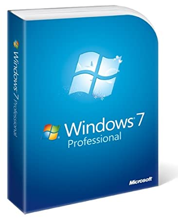 Microsoft Windows 7 Professional, Full Version  (PC DVD), 1 User